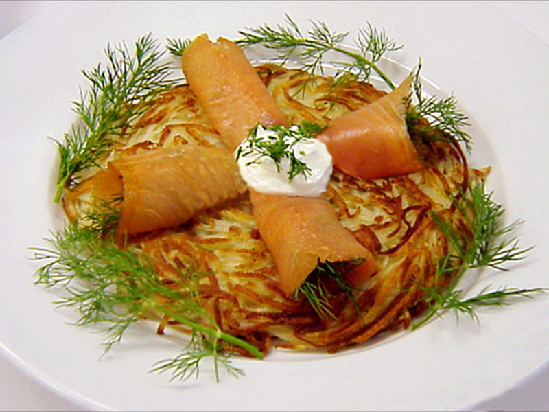 smoked  salmon potato galettes